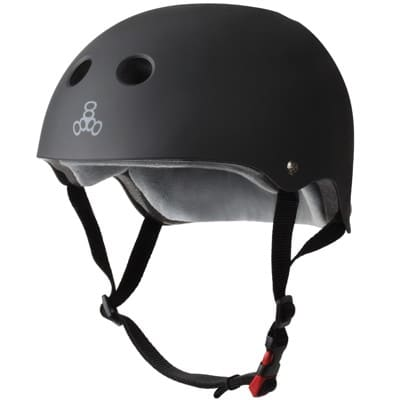 Triple Eight THE Certified Sweatsaver Skate Helmet - black rubber - view large