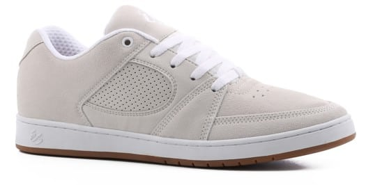 eS Accel Slim Skate Shoes - white/white/gum (wade) - view large