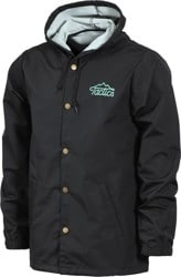 Tactics Three Peaks Hooded Coaches Jacket - black