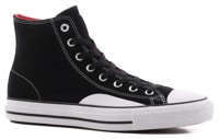 Converse Chuck Taylor All Star Pro Hi Skate Shoes - black/enamel red/white