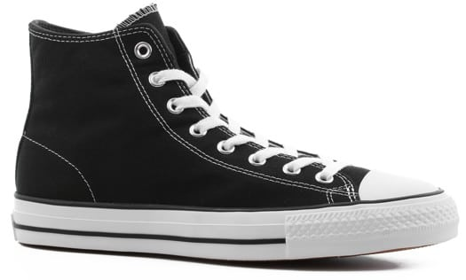 Converse Chuck Taylor All Star Pro High Skate Shoes - (canvas) black/black/white - view large