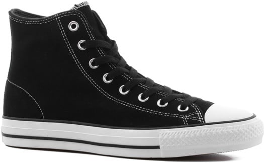 Converse Chuck Taylor All Star Pro High Skate Shoes - (suede) black/black/white - view large