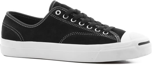 Converse Jack Purcell Pro Skate Shoes - black/black/white (suede) - view large