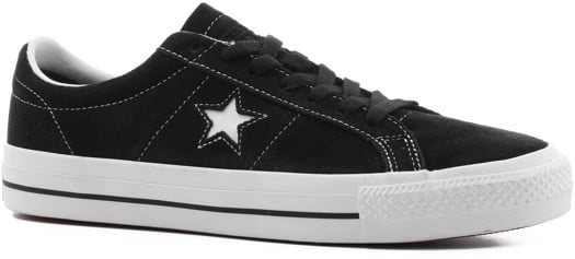 Converse One Star Pro Skate Shoes - black/white/white - view large