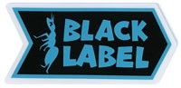 Black Label Ant Logo Sticker - blue/black