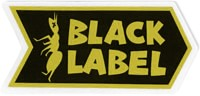 Black Label Ant Logo Sticker - yellow/black