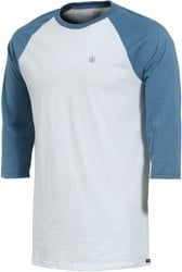Volcom Solid Heather Raglan 3/4 Sleeve T-Shirt - white
