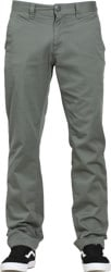 Volcom Frickin Modern Stretch Chino Pants - dusty green