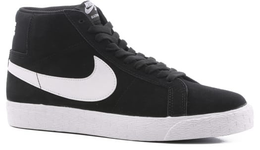Nike SB Blazer Zoom Mid Skate Shoes - black/white-white-white - view large