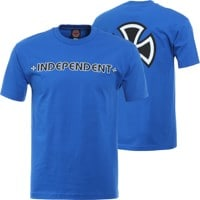Independent Bar/Cross T-Shirt - royal