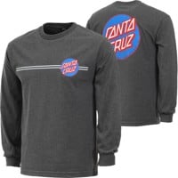 Santa Cruz Other Dot L/S T-Shirt - charcoal heather
