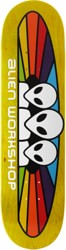 Alien Workshop Spectrum 7.875 Skateboard Deck - yellow / white text
