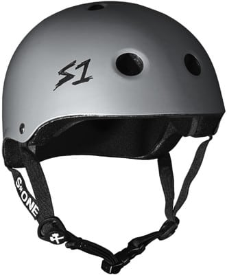 S-One Lifer Dual Certified Multi-Impact Skate Helmet - dark grey matte - view large