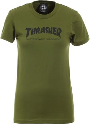 Thrasher Women's Skate Mag T-Shirt - olive - view large
