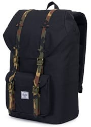 Herschel Supply Little America Backpack - black/woodland camo