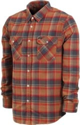 Brixton Bowery Flannel - navy/copper