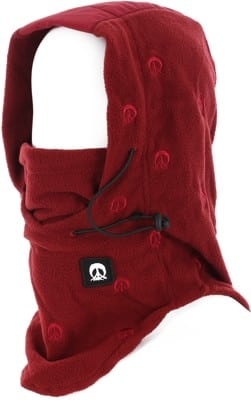 Gnarly Face Mask Hood - burgundy - view large
