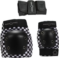 ProTec Street Gear Junior 3-Pack Pad Set - black checker