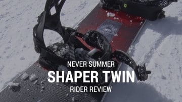 Never Summer Shaper Twin 2019 Snowboard Rider Review