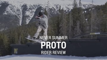 Never Summer Proto Type Two 2019 Snowboard Rider Review