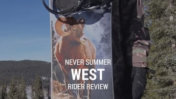 Never Summer West 2019 Snowboard Rider Review