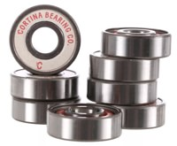 Cortina Bearing Co. Presto Skateboard Bearings - silver