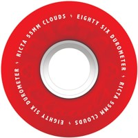 Ricta Cloud Skateboard Wheels - red (86a)