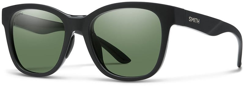 Smith Caper Polarized Sunglasses - matte black/chromapop polarized gray green lens - view large