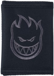 Spitfire Bighead Embroidered Tri-Fold Velcro Wallet - black/grey
