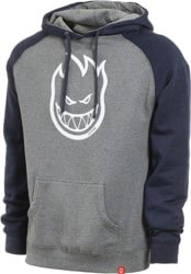 Spitfire Bighead Hoodie - gunmetal heather/navy heather