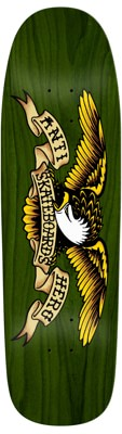 Anti-Hero Shaped Eagle 9.56 Skateboard Deck - green giant - view large