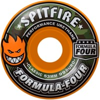 Spitfire Formula Four Classic Skateboard Wheels - covert orange (99d)