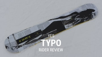 YES Typo 2019 Snowboard Rider Review