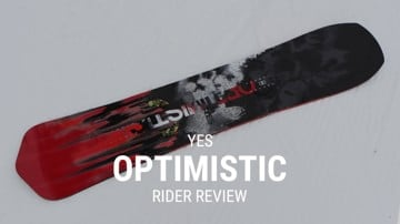 YES Optimistic 2019 Snowboard Rider Review
