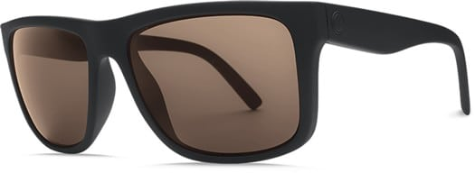 Electric Swingarm Polarized Sunglasses - matte black/ohm polar bronze lens - view large