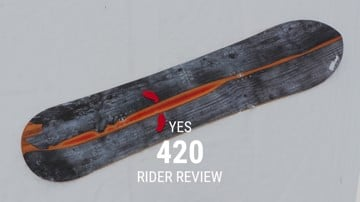 YES 420 2019 Snowboard Rider Review