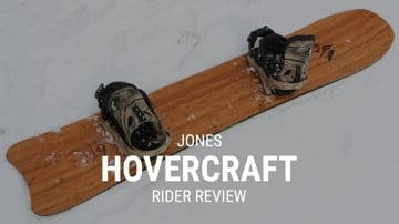 Jones Hovercraft 2019 Snowboard Rider Review