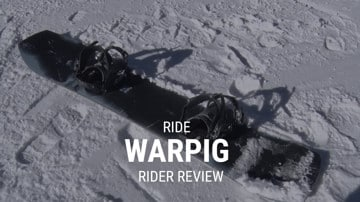 Ride Warpig 2019 Snowboard Rider Review