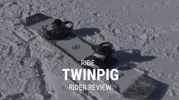 Ride Twinpig 2019 Snowboard Rider Review