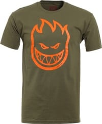 Spitfire Bighead T-Shirt - covert green/orange
