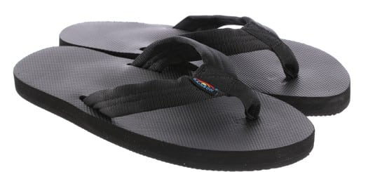 Rainbow Sandals Classic Rubber Single Layer Eco Sandals - all black - view large