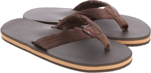 Rainbow Sandals Classic Rubber Single Layer Eco Sandals - brown/brown - view large