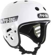ProTec Full Cut Certified EPS Skate Helmet - gloss white