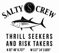 Salty Crew Fish Market Sticker - black