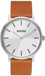 Nixon Porter Leather Watch - silver/tan