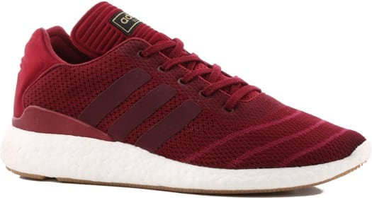 Adidas Busenitz Pure Boost Shoes - collegiate burgundy/mystery ruby/footwear white - view large