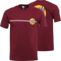 Santa Cruz Other Dot T-Shirt - burgundy/gold