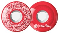 Element Keither Haring Graphic Skateboard Wheels - red (85a)