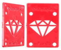Diamond Supply Co Rise & Shine Riser Pads - red