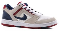 Nike SB Air Force II Skate Shoes - white/blue void-red crush-white
